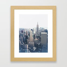 New York City and the Empire State Building Framed Art Print