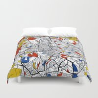 rome Duvet Covers featuring Rome by Mondrian Maps