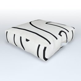 Abstract line art Outdoor Floor Cushion