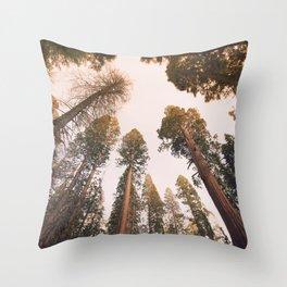 Sequoia Sunset Throw Pillow