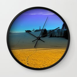 Colorful winter wonderland scenery | landscape photography Wall Clock
