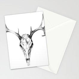 Deer Skull in Pencil Stationery Cards