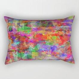 Vibrant Chaos - Mixed Colour Abstract Rectangular Pillow