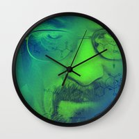 breaking bad Wall Clocks featuring Breaking Bad by Scar Design