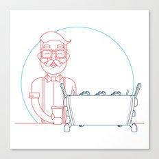 Coffee (lineart) Canvas Print