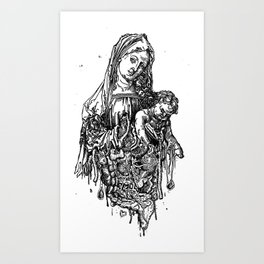 Santa De Carne Art Print