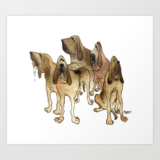 Hounds Art Print