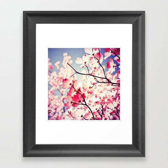 Dialogue With the Sky - Blue tones Framed Art Print