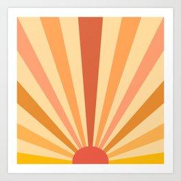 retro sunshine Art Print