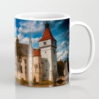 castle Mugs featuring Castle by DistinctyDesign