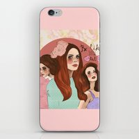 lana iPhone & iPod Skins featuring Lana by Clementine Petrova