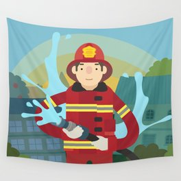 Firefighter Wall Tapestry