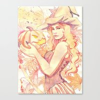 witchcraft Canvas Prints featuring Witchcraft by Souzou Inc