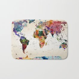 map Bath Mat