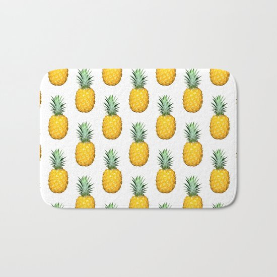 Big Pineapples Bath Mat
