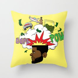 Scatterbrain with a Chance of Showers Throw Pillow