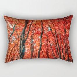 Red Forest of Sunlight Rectangular Pillow