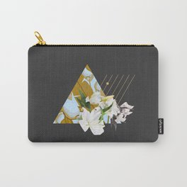 Tropical Flowers & Geometry Carry-All Pouch
