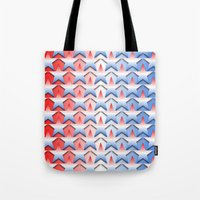 america Tote Bags featuring America by Lyle Hatch