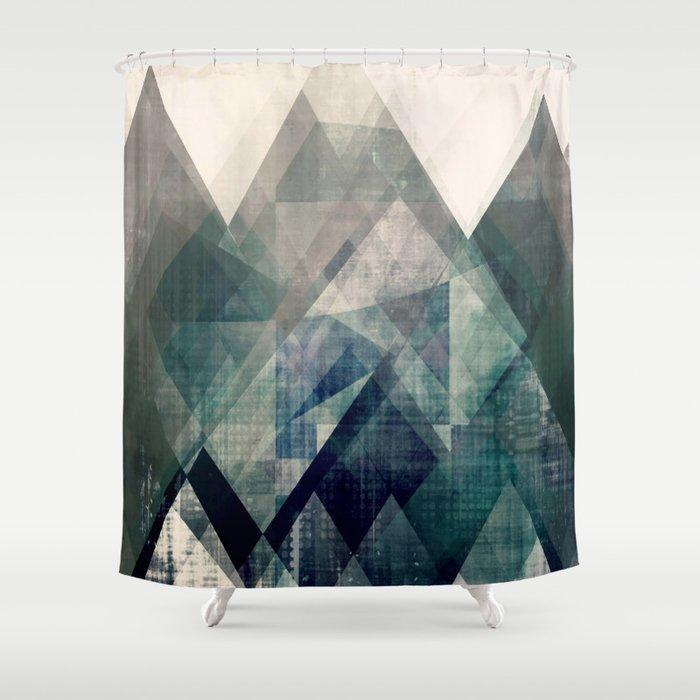 Mountains Print Abstract Geometric Wall Art Mountain Minimalist
