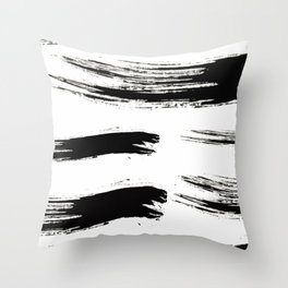 Ink Waves Throw Pillow