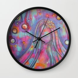 Right Here With Me   Original painting by Mimi Bondi Wall Clock
