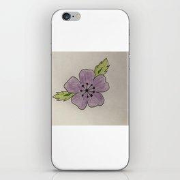Een bloem voor myn bloem iPhone Skin