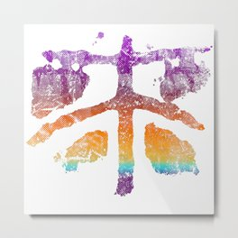 Celtic Cross Fly in Candy Colors Metal Print