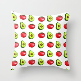 Guacamole Salad Throw Pillow