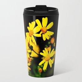 Bright Yellow Wildflowers Travel Mug