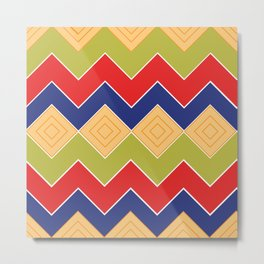 Egyptian textile pattern Metal Print