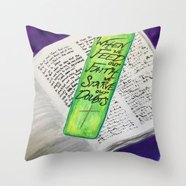 Feed Our Faith Throw Pillow