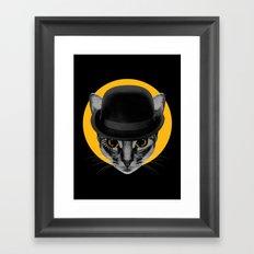 Catwork Orange Framed Art Print