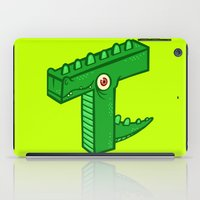 t rex iPad Cases featuring T-Rex by Artistic Dyslexia