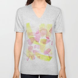 180527 Watercolour Abstract 20  | Watercolor Brush Strokes Unisex V-Neck