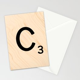 Scrabble Tile C - Large Scrabble Letters Stationery Cards