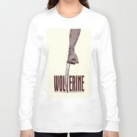 x men Long Sleeve T-shirts featuring X-Men Origins: Wolverine by Duke Dastardly