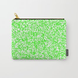 Tiny Spots - White and Neon Green Carry-All Pouch