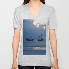 Ships Ahoy! Unisex V-Neck