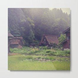 Shirakawa-go Metal Print