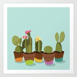 Cacti Gang Art Print