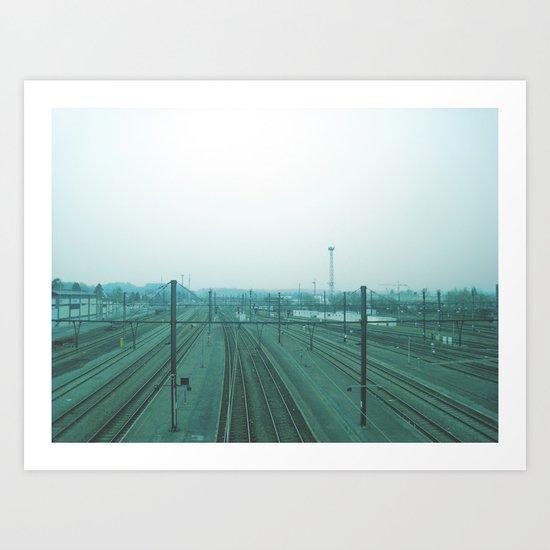 get me a train. Art Print