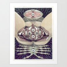 Hyperskull Art Print