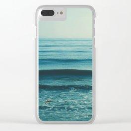 beach waves. Somewhere Clear iPhone Case