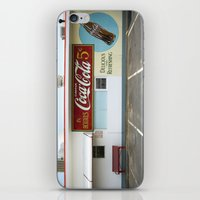 coca cola iPhone & iPod Skins featuring Coca Cola by Jon Cain
