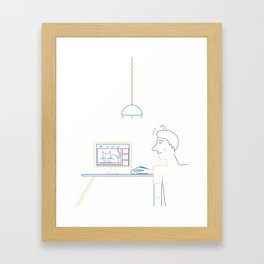 How To Waste Time Properly: Illustration by Francesco Izzo for Nautilus. Framed Art Print