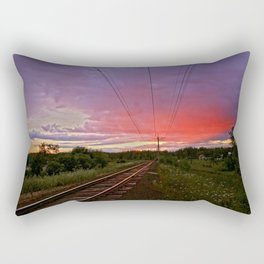 Northern sunset at white night Rectangular Pillow