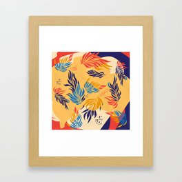 Primary Colors Leaves Framed Art Print