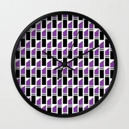 Lipstick Junkie - Pretty Purple Wall Clock