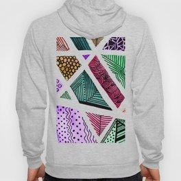 Geometric doodle pattern - multicolor Hoody